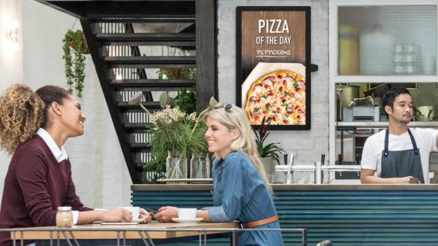 Digital cloud signage being used by businesses
