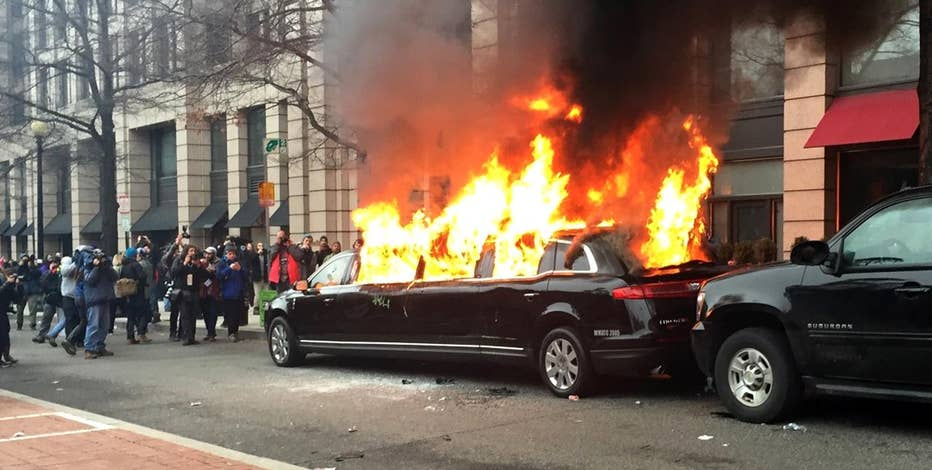 Nationwide Chauffeured Services President Muhammad Ashraf speaks out against Trump rioters who set his limousine on fire during an Inauguration Day protest in Washington, D.C.