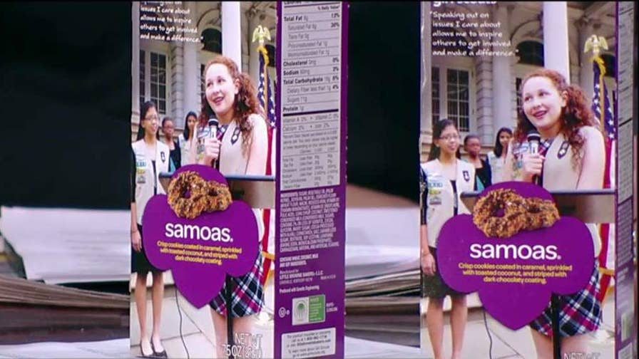 Girl Scout Charlotte McCourt on the unique way she sold so many Girl Scout cookies and her efforts to send cookies to U.S. troops overseas.