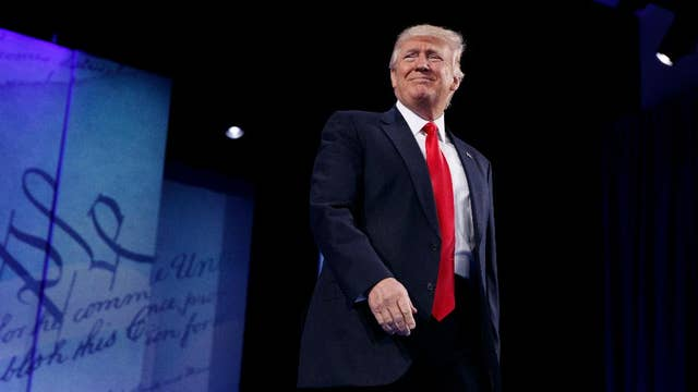 Crowd praises Trump during CPAC speech