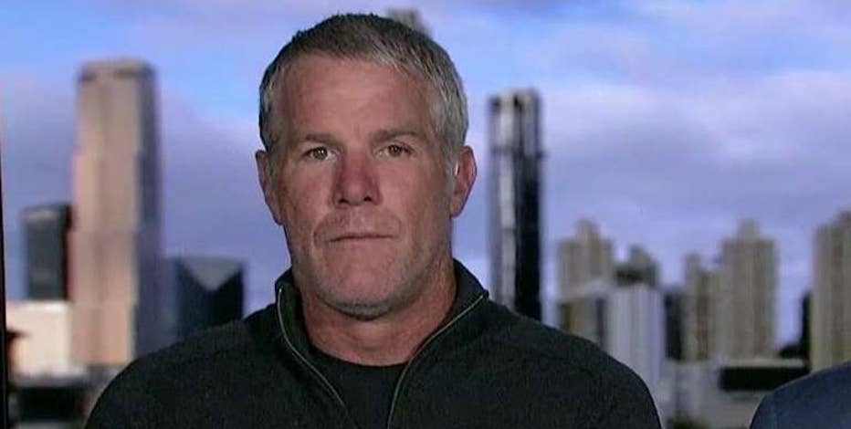 Former NFL star Brett Favre and Prevacus president Dr. Jacob Vanlandingham on the nasal spray developed to help treat concussions.