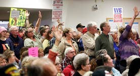 GOP facing town hall anger