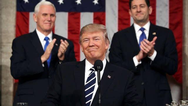 President Trump on job growth in the U.S.