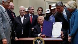 Trump bill cancels Obama's coal rule