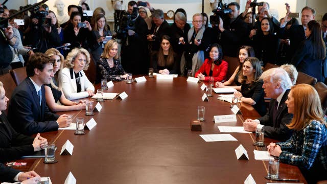 Trump, Canadian PM talk women in business at the White House