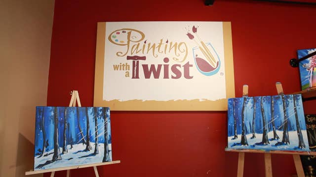 Painting with a Twist is the perfect Valentine's Day date!