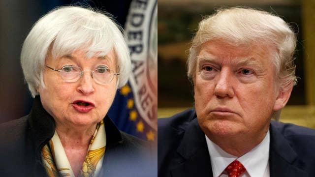 Gasparino: No noticeable camaraderie between Trump and Yellen