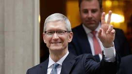 Apple CEO Tim Cook opposes Trump