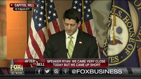 Speaker of the House Paul Ryan addresses the press about the decision to cancel  the GOP's health care vote.