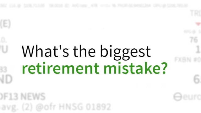 This is the biggest retirement mistake