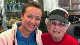 Fmr. McDonald's CEO honors 94-Year-Old employee