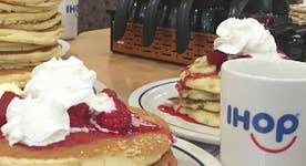 IHOP celebrating National Pancake Day
