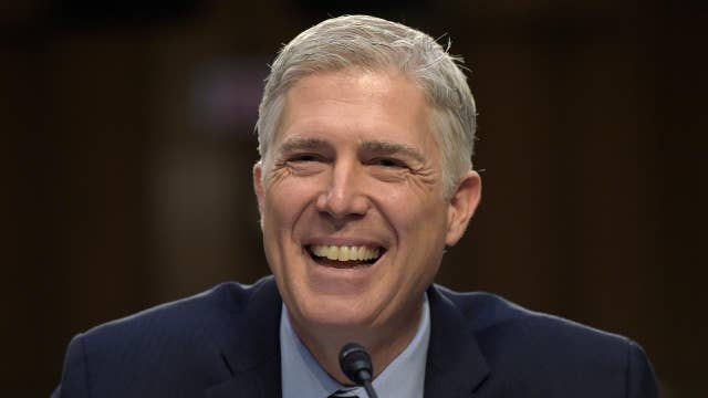 Gorsuch counters attacks by Democrats