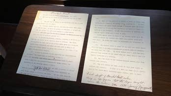 Descendants of James Naismith inherit the two pages upon which he first typed up the rules of basketball.