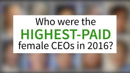 Who are the highest-paid female CEOs?