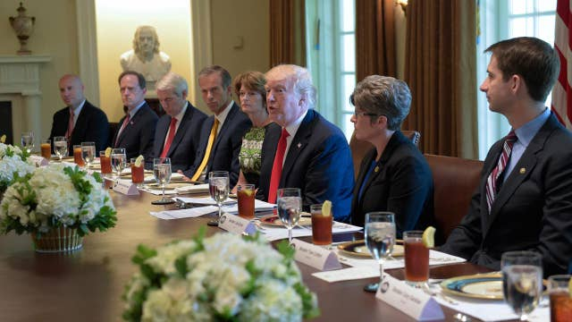 Trump pushes jobs agenda amid AG Sessions' testimony