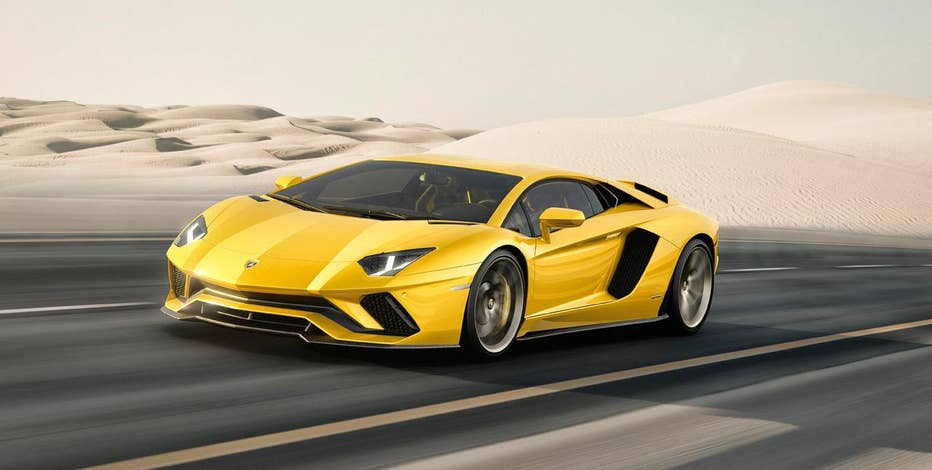 FoxNews.com Automotive Editor Gary Gastelu test drives the new Lamborghini Aventador S at the Pocono Raceway in Long Pond, Pa.