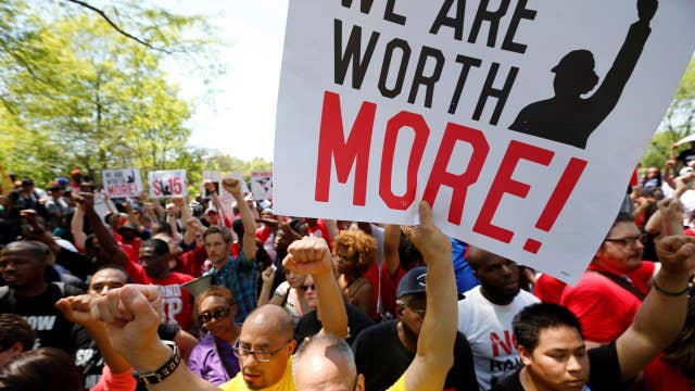 Unions won't give up on minimum wage hikes, Andy Puzder says