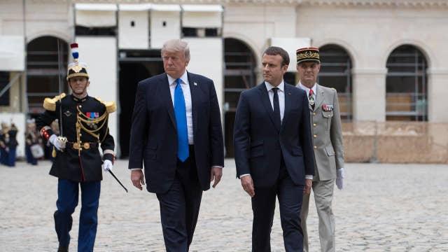 Trump, Macron meet amid global security concerns