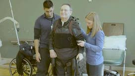 Using robotics to help wounded veterans to walk again