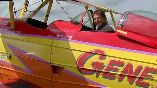 Gene Soucy aircraft takes flight at Oshkosk airshow
