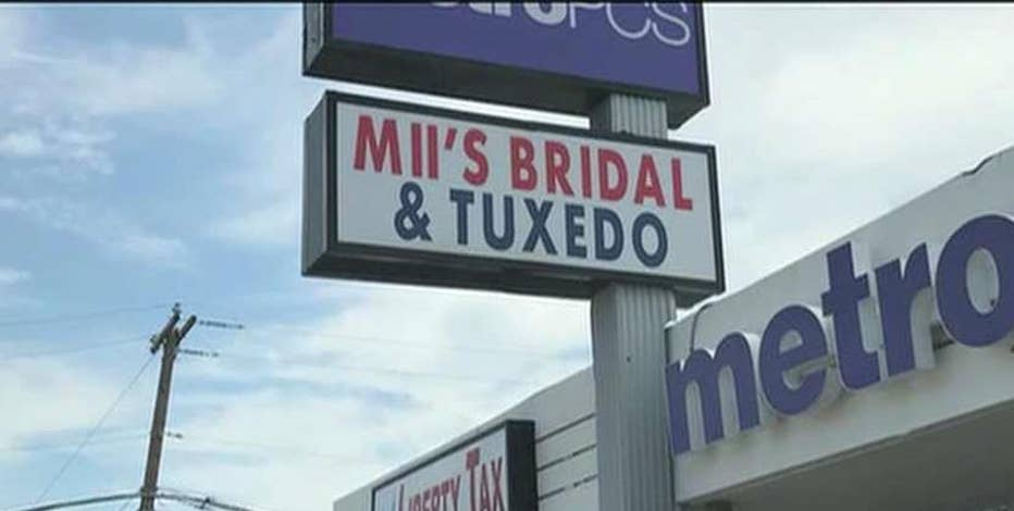The Internal Revenue Service reportedly shuts down a local dressmaker business and auctions off its inventory hours later.