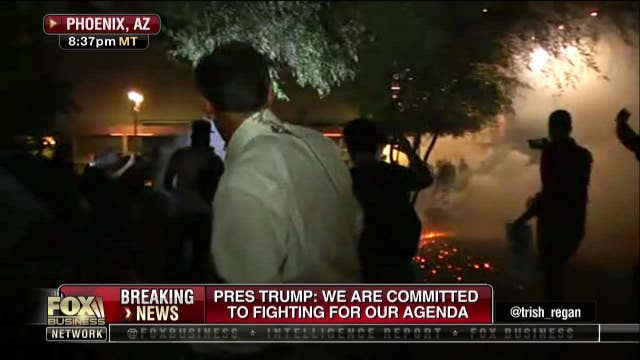 Chaos breaks out after Trump rally