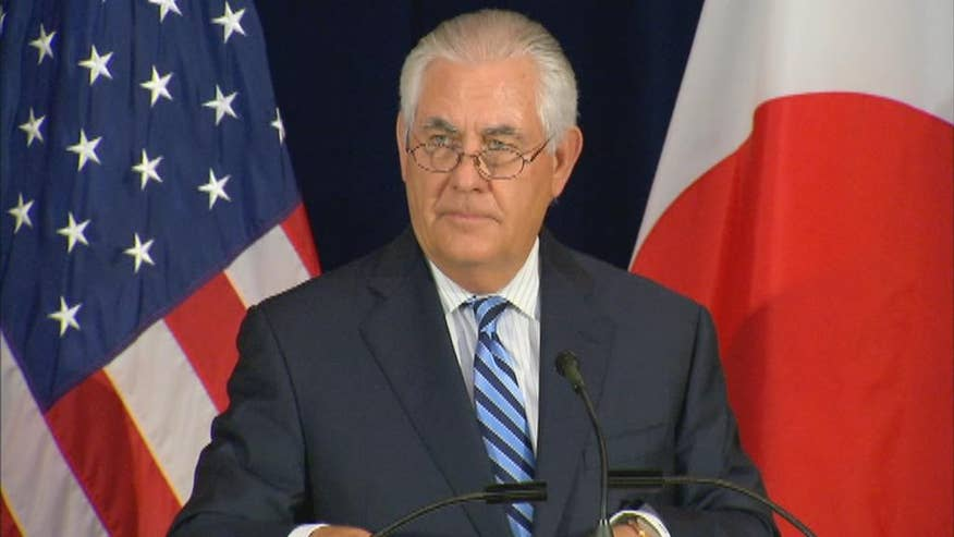 Secretary of State Rex Tillerson makes remarks following the Barcelona terror attack.