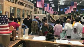 Harvey evacuees given shelter by furniture store owner