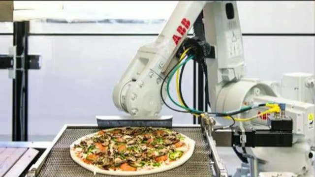 Pizza made by robot chefs