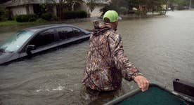 Hurricane Harvey leading to catastrophic flooding