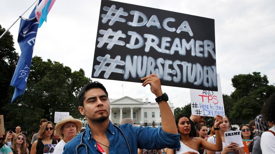 Rep. Marsha Blackburn (R-Tenn) discusses the protest staged by DACA's 'dreamers' against Rep. Nancy Pelosi (D-Calif) on Tuesday.