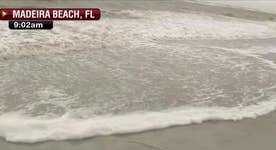 Irma storm surge hits Florida beaches