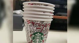 New Starbucks holiday cup not red?