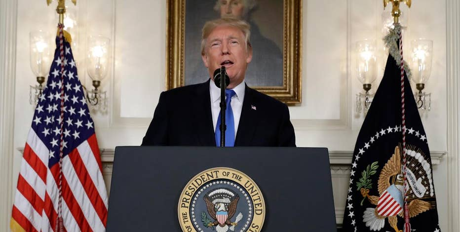 President Trump says U.S. will not certify that Iran is complying with nuclear deal.