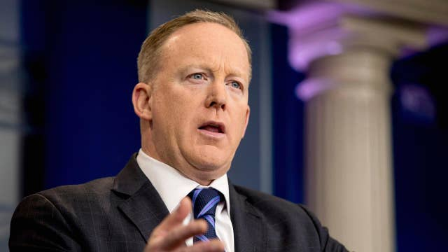 Sean Spicer on media's coverage of Trump: They are making up narratives