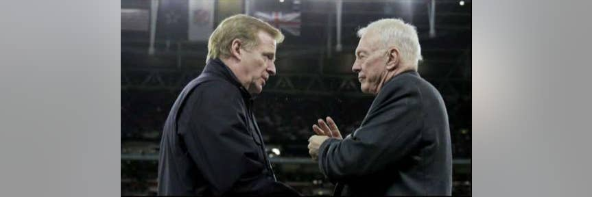 Jerry Jones, NFL feud looms over annual Cowboys Thanksgiving game