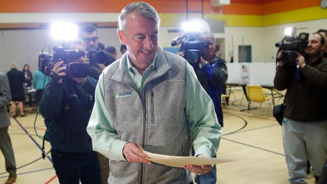 Gillespie gives concession speech after loss to Northam