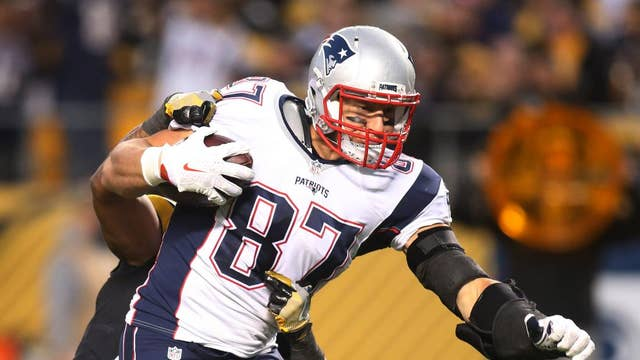 NFL Patriots' tight end Rob Gronkowski unveils new tech startup