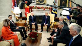 Trump meets with bipartisan leaders to avoid government shutdown