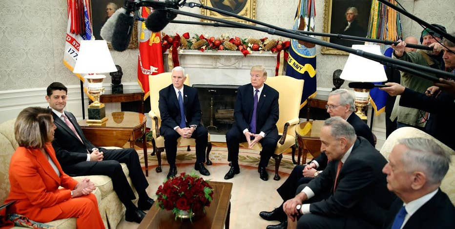 President Donald Trump meets with bipartisan congressional leaders to avoid a government shutdown.