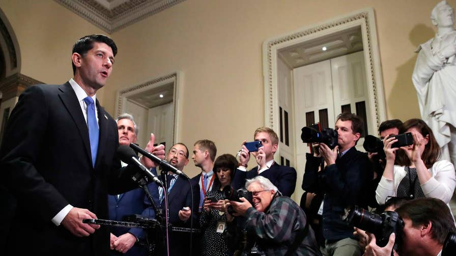 Florida Congressman Rep. Matt Gaetz (R) reacts to the House passing a final tax reform bill ahead of Tuesday's Senate vote.