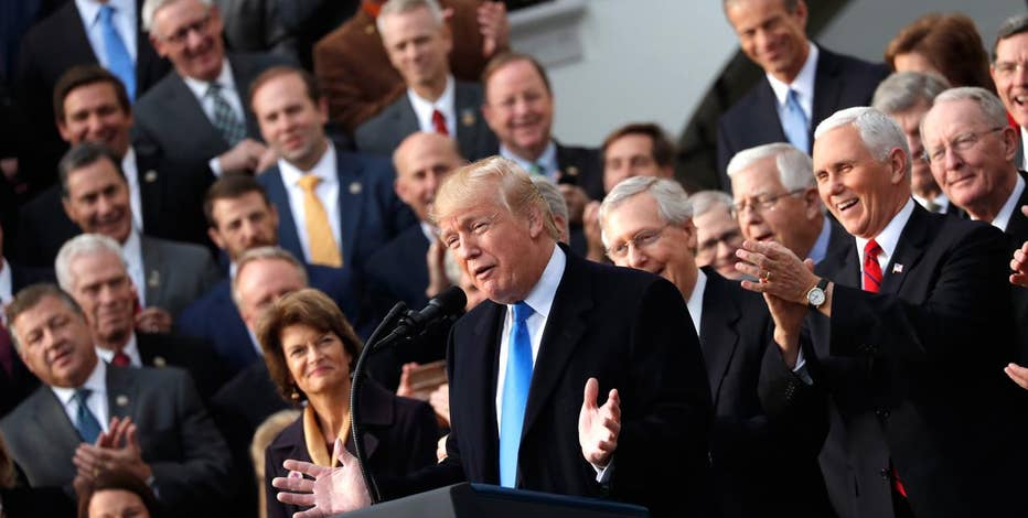 President Donald Trump addresses Congress passing tax reform in a GOP victory lap celebrating the legislation.