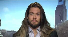Eagles DE Bryan Braman's long hair getting in the way?