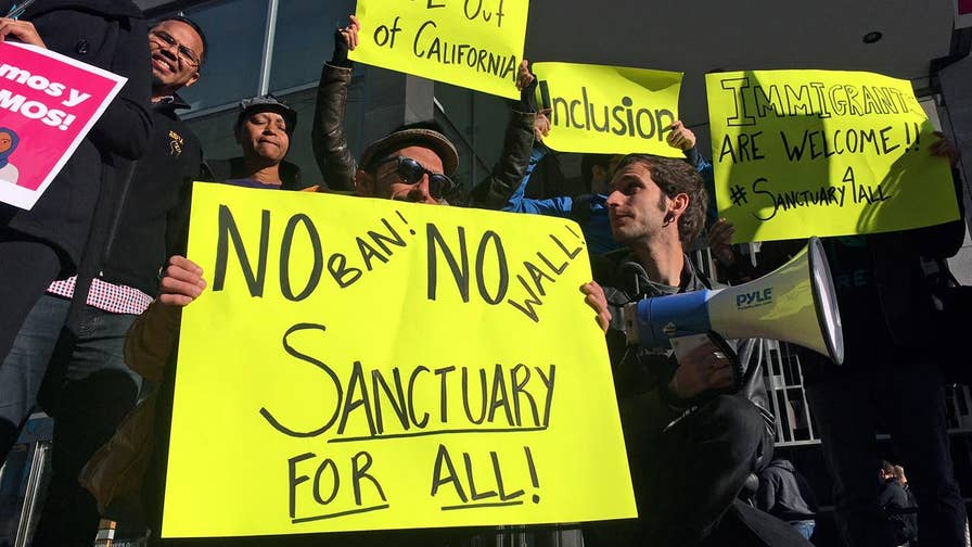 Texas Attorney General Ken Paxton discusses the DOJ crackdown on sanctuary cities.