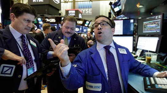 Dow surges 348 points, closes week in positive territory