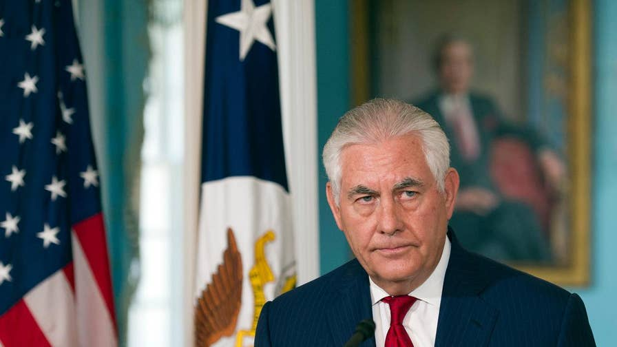 Rex Tillerson delivers his first statement since being ousted as secretary of state, saying his post terminates on March 31.