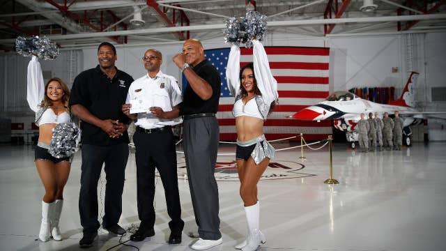 Cheerleaders take on the NFL