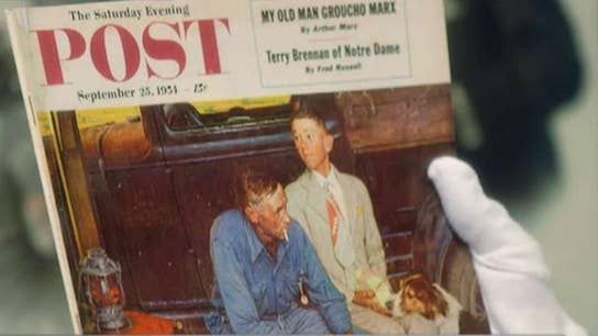 Family finds Norman Rockwell painting behind a wall