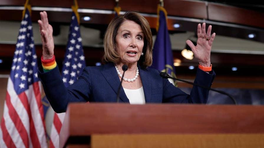 FBN's Trish Regan discusses how Senate Minority Leader Nancy Pelosi (D-Calif.) downplayed the strength of the U.S. economy.